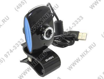 купить Веб-камера SVEN [IC-350 Black-Blue] Web-Camera (640x480, USB, микрофон)