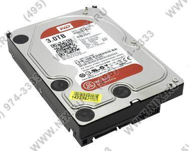 купить Жесткий диск 3 Tb SATA-III Western Digital Red [WD30EFRX] 64Mb