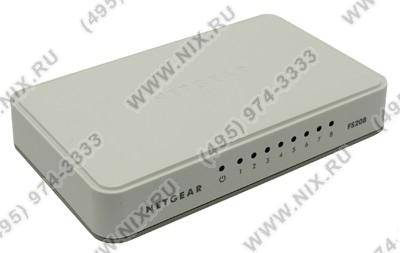 купить Коммутатор  8-порт. NETGEAR [FS208-100PES] 8-port Fast E-net Switch (8UTP 10/100Mbps)