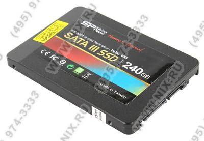 "купить Накопитель SSD 240 Gb SATA-III Silicon Power Velox V55 [SP240GBSS3V55S25] 2.5"" MLC"