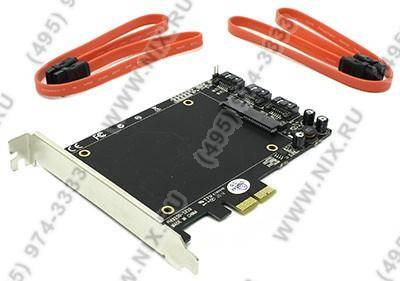 "купить Контроллер PCI-Ex1 SATA-III, 3port-int, 1port-int for SSD 2.5"" STLab A-550 (RTL)"