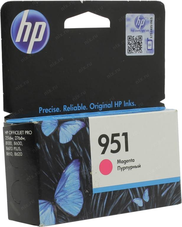 купить Картридж HP CN051AE №951 Magenta (o) для HP Officejet Pro 251dw/276dw/8100/8600/8600 Plus/8610/8620