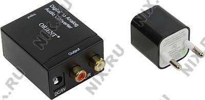 купить Звуковая плата Orient [DAC0202N] Digital to Analog Audio Converter (Optical/Coaxial In, 2xRCA Out)