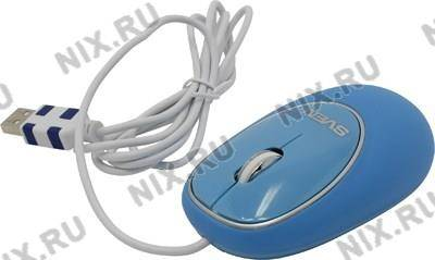 купить Мышь USB SVEN Optical Mouse [RX-555 Silent Antistress Blue] (RTL) 3кн.(с колесом)