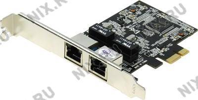 купить Адаптер сетевой PCI-Ex1 Dual Port Gigabit LAN Card STLab N-381 (RTL)