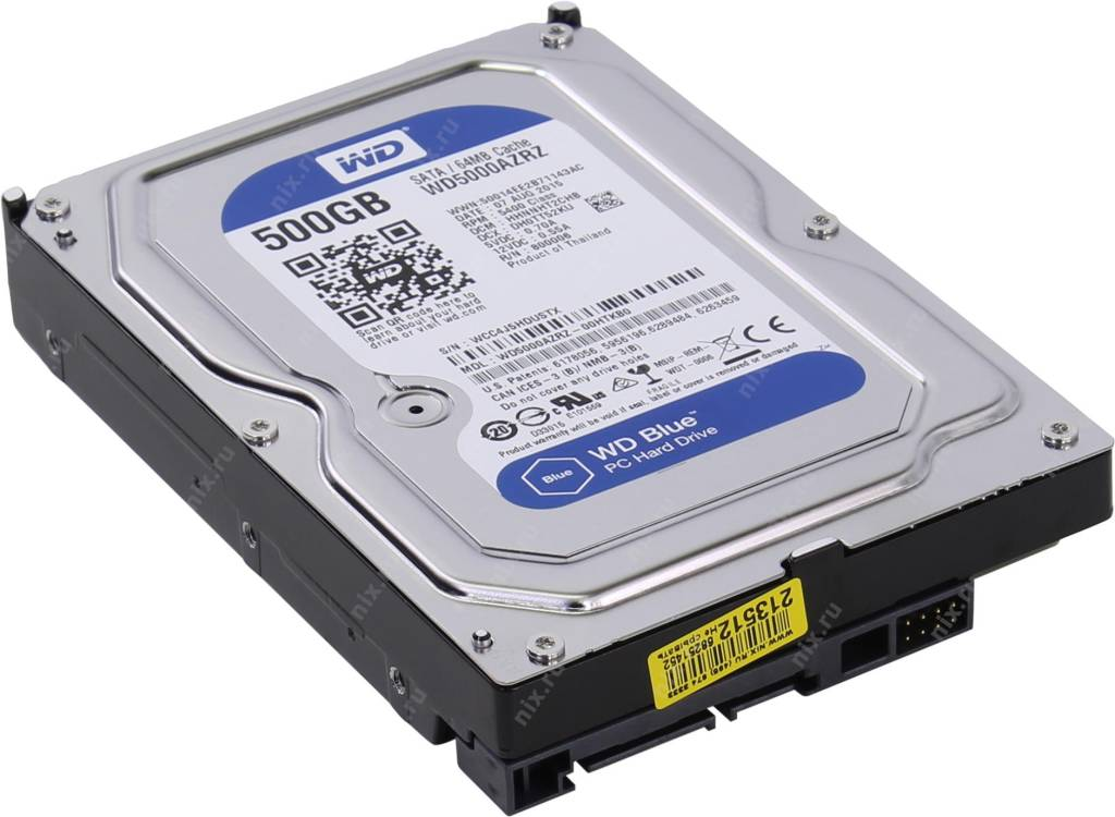 "купить Жесткий диск 500 Gb SATA-III Western Digital Blue [WD5000AZRZ] 3.5"" 5400rpm 64Mb"