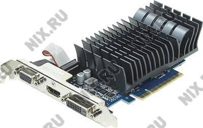 купить Видеоадаптер PCI-Ex8 1Gb DDR-3 ASUS 710-1-SL (RTL) D-Sub+DVI+HDMI [GeForce GT710]