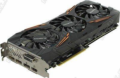 купить Видеоадаптер PCI-E 8Gb DDR5X GIGABYTE GV-N1080G1 GAMING-8GD(RTL)DVI+HDMI+3xDP+SLI[GeForce GTX1080]