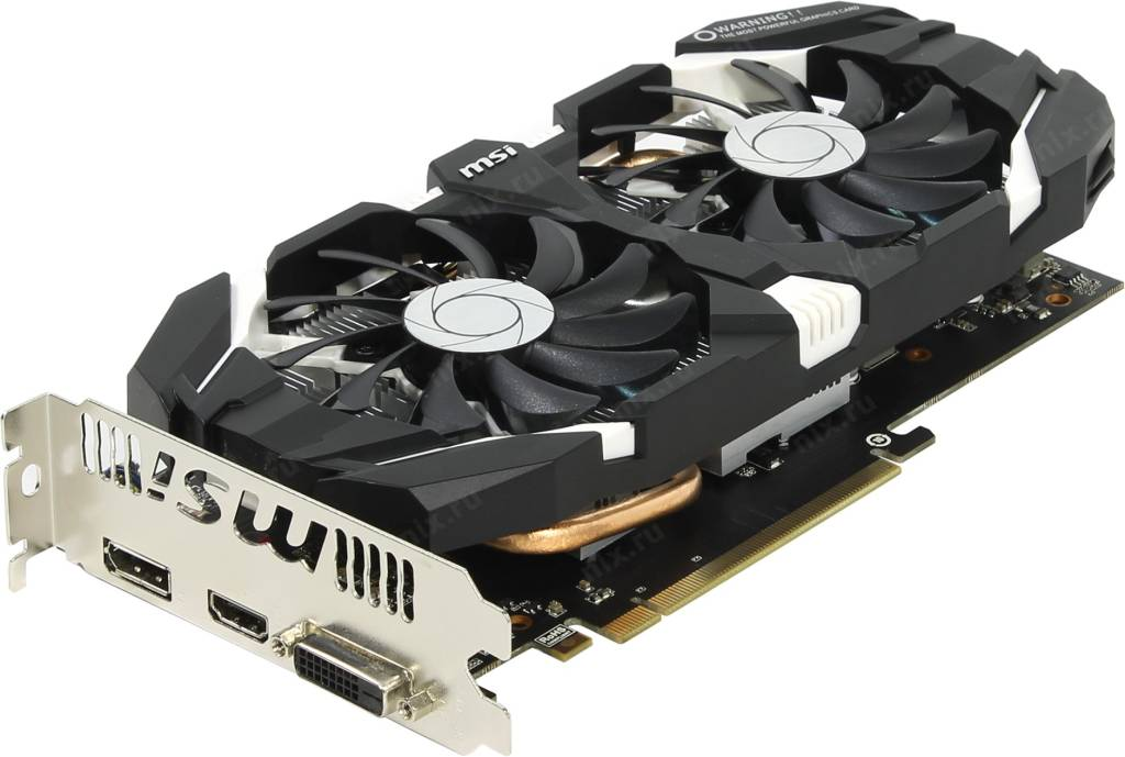 купить Видеоадаптер PCI-E 3Gb DDR5 MSI V809 GTX 1060 3GT OC (RTL) DVI+HDMI+DP [GeForce GTX1060]