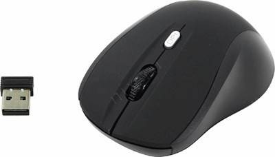 купить Мышь USB OKLICK Wireless Optical Mouse [415MW] [Black] (RTL) 4кн.(с колесом) [351684]