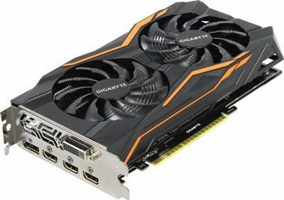 купить Видеоадаптер PCI-E 4Gb DDR5 GIGABYTE GV-N105TG1 GAMING-4GD(RTL)DVI+3xHDMI+DP[GeForce GTX1050Ti]