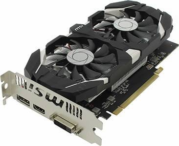 купить Видеоадаптер PCI-E 2Gb DDR5 MSI V809 GTX 1050 2GT OC (RTL) DVI+HDMI+DP [GeForce GTX1050]