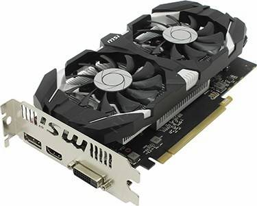 купить Видеоадаптер PCI-E 4Gb DDR5 MSI V809 GTX 1050 Ti 4GT OC (RTL) DVI+HDMI+DP [ GeForce GTX1050Ti]