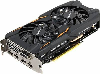 купить Видеоадаптер PCI-E 2Gb DDR5 GIGABYTE GV-N1050WF2-2GD (RTL) DVI+3xHDMI+DP [GeForce GTX1050]
