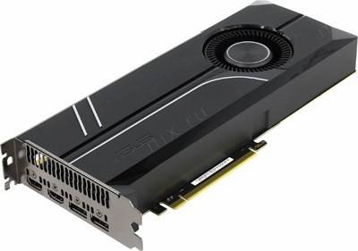 купить Видеоадаптер PCI-E 11Gb DDR5X ASUS TURBO-GTX1080TI-11G (RTL) 2xHDMI+2xDP+SLI [GeForce GTX1080Ti]