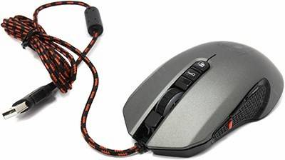 купить Мышь USB Jet.A Gaming Mouse [JA-GH23 Black&Grey] (RTL) 7кн.(с колесом)