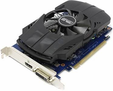 купить Видеоадаптер PCI-E 2Gb DDR5 ASUS PH-GT1030-O2G (RTL) DVI+HDMI [GeForce GT1030]