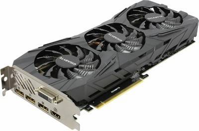 купить Видеоадаптер PCI-E 11Gb DDR5X GIGABYTE GV-N108TGAMINGOC BLACK-11GD(RTL)DVI+HDMI+3xDP[GeForce GTX1080