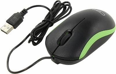 купить Мышь USB CBR Optical Mouse [CM112 Green] (RTL) 3but+Roll