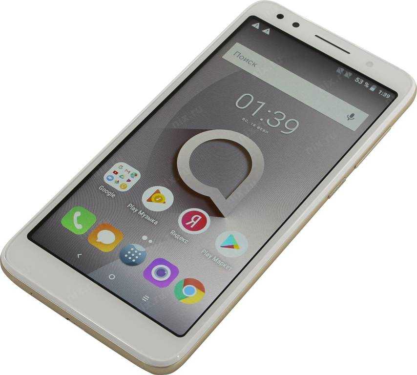 "купить Смартфон Alcatel 1x 5059D White&Gold (1.3GHz, 2Gb, 5.3"" 960x480,4G+WiFi+BT,16Gb+microSD,13Mpx)"