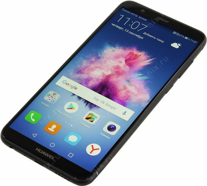 "купить Смартфон Huawei P Smart FIG-LX1[Black](2.36+1.7GHz,3GB,5.65"" 2160x1080 IPS,4G+WiFi+BT,32Gb+microSD,1"