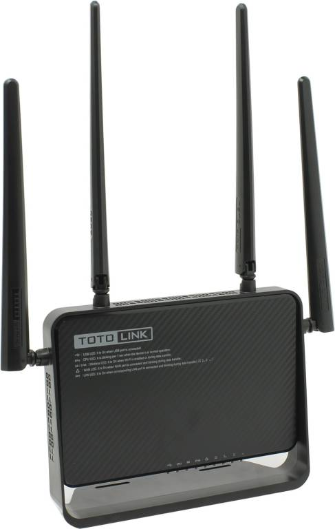 купить Маршрутизатор TOTOLINK[A3000RU]Wireless Dual Band Gigabit Router(4UTP 1000Mbps,1WAN,802.11b/g/n/a/ac