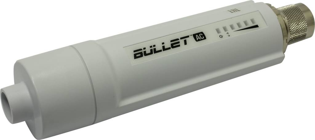 купить Точка доступа UBIQUITI[B-DB-AC]Bullet AC Outdoor PoE Access Point(1UTP 100Mbps,airMAX aс,300Mbps)