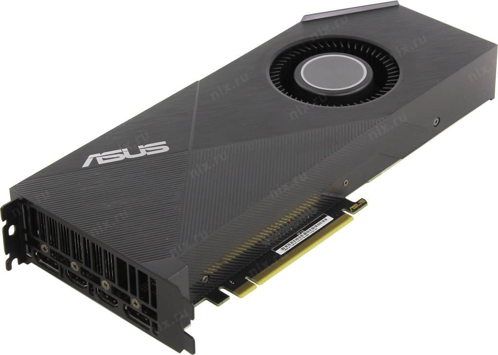 купить Видеоадаптер PCI-E 6Gb GDDR6 ASUS TURBO-RTX2060-6G (RTL) 2xHDMI+2xDP [GeForce RTX2060]