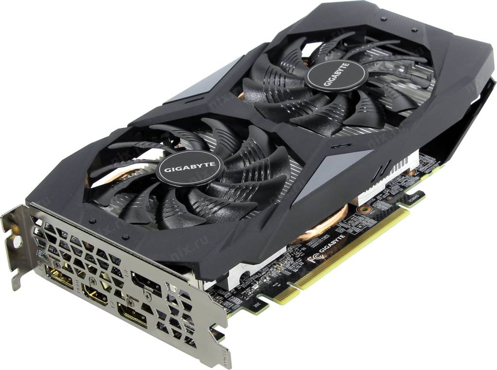 купить Видеоадаптер PCI-E 6Gb GDDR6 GIGABYTE GV-N2060OC-6GD [GeForce RTX 2060]