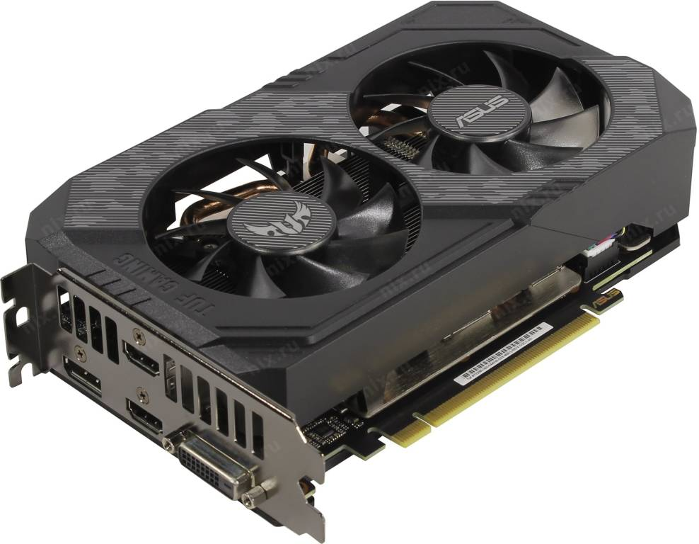 купить Видеоадаптер PCI-E 6Gb GDDR6 ASUS TUF-RTX2060-O6G-GAMING (RTL) DVI+2xHDMI+DP [GeForce RTX2060]