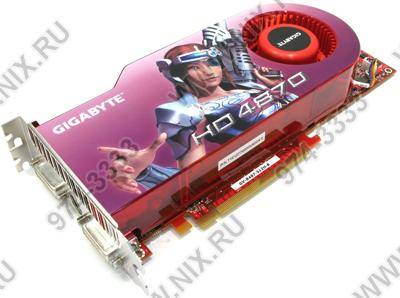 купить Видеоадаптер PCI-E 512Mb DDR-5 Gigabyte GV-R487-512H-B (RTL) +DualDVI+TV Out [ATI Radeon HD4870]  !!! ТОЛЬКО СКЛАД !!!