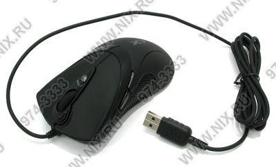 купить Мышь USB A4-Tech Game Optical Mouse [X-748K-Black] (3200dpi) (RTL) 7кн.(с колесом)